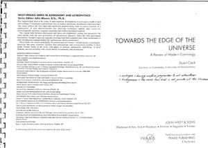 Clark S. Towards the Edge of the Universe. A Review of Modern Cosmology