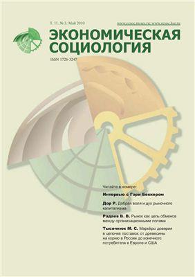 Экономическая социология 2010 №03