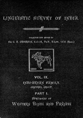 Grierson, George. Lingvistic survey of India, v.9 p.1