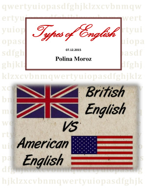 Types of English