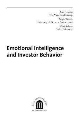 Ameriks John, Wranik Tanja. Emotional Intelligence and Investor Behavior