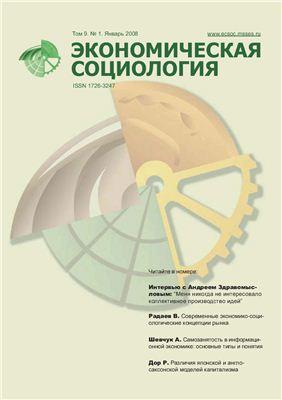 Экономическая социология 2008 №01