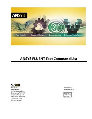 ANSYS FLUENT 14.0 Text Command List