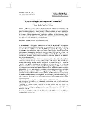 Algorithmica 2007 №48