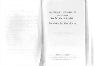 Dardjowidjojo Soenjono. Vocabulary Building in Indonesian an advanced reader /Словарный запас индонезийского языка. Книга для чтения. Продвинутый уровень
