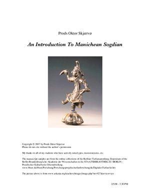 Skjærvø P.O. An Introduction to Manichean Sogdian