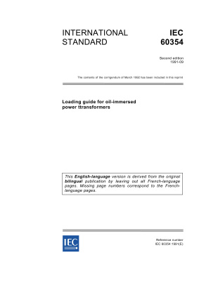 IEC 60354-1991 - Loading guide for oil-immersed power transformers