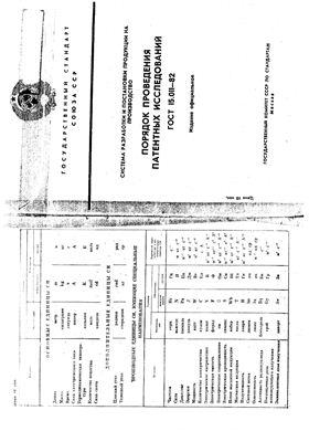 ГОСТ 15.011-82 Система разработки и постановки продукции на производство. Порядок проведения патентных исследований