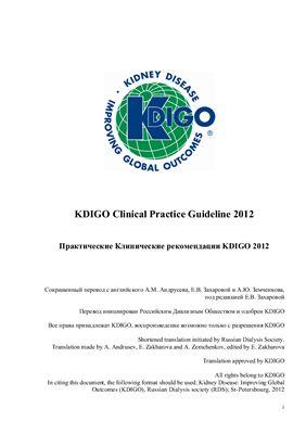 Келлум Дж.А., Лемер Н. и др. Острое почечное повреждение. Клинические практические рекомендации KDIGO (основные положения)
