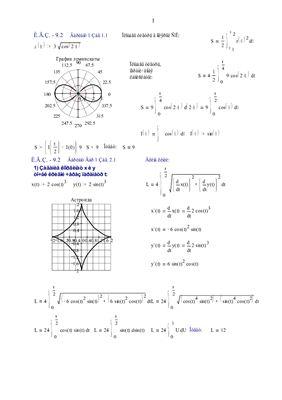 Индивидуальные задания по высшей математике. Глава 9. Определенный интеграл. Решены эадания ИДЗ-9.2, № 1.1; 2.1; 3.1; 4.1 в Word