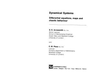 Arrowsmith D.K., Place C.M. Dynamical systems. Differential equations maps and chaotic behaviour