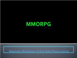 Игры онлайн. MMORPG