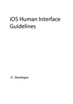 Apple iOS Human Interface Guidelines (рус.)