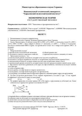 Вопросы по экзамену эконом теории