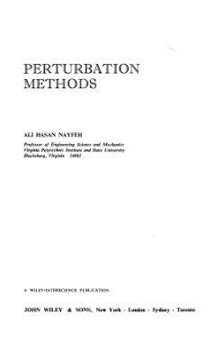 Nayfeh A.H. Perturbation Methods