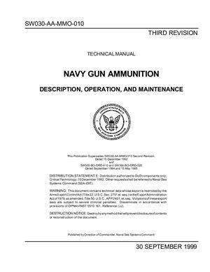 Navy gun ammunition, description, operation, and maintenance