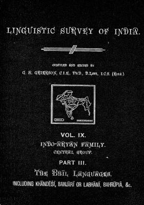 Grierson, George. Lingvistic survey of India, v.9 p.3