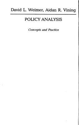 Веймер Девід, Вайнінг Ейден. Аналіз політики. Концепції і практика