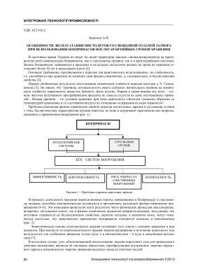 Бирюков А.И. Особенности эксплуатации пистолетов со свободной отдачей затвора при использовании боеприпасов послегарантийных сроков хранения