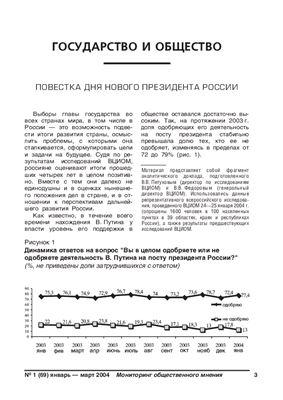 Мониторинг общественного мнения: экономические и социальные перемены 2004 №01 (69)