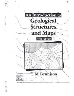 Bennison G.M. An Introduction to Geological Structures and Maps