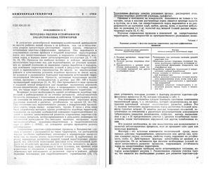 Кожевникова В.Н. Методика оценки устойчивости закарстованных территорий