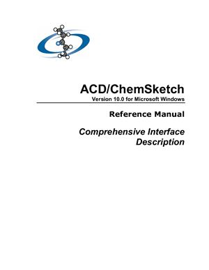 ACD ChemSketch 10 (Freeware version)