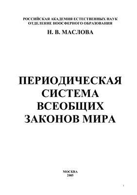 Маслова Н.В. Система Всеобщих Законов Мира