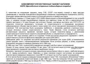 Боекомплект отечественных танков Т-64/72/80/90
