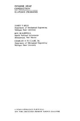 Бек Дж., Блакуэлл Б., Сэнт-Клэр Ч. Некорректные обратные задачи теплопроводности