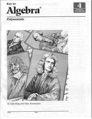 King J., Rasmussen P. Key To Algebra: Polynomials (Student Workbook-4)