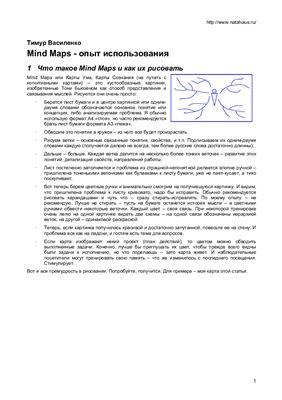 Василенко Тимур. Mind Maps - опыт использования