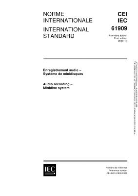 IEC 61909-2000. Audio recording. Minidisc system. Звукозапись. Система на минидисках