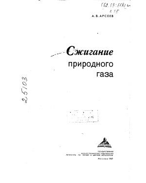 Арсеев А.В. Сжигание природного газа