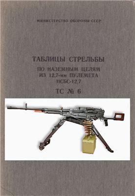 Таблицы стрельбы по наземным целям из 12.7-мм пулемета НСБС-12.7. ТС №6