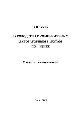 Тюкин А.В. Руководство к компьютерным лабораторным работам по физике