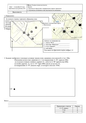 План и карта. Практическая работа №1