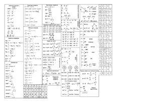 Шпоры - сборник формул и теорем в компактном виде по алгебре и геометрии