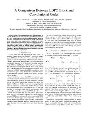 Зигангиров К. Сравнение блочных и свёрточных кодов