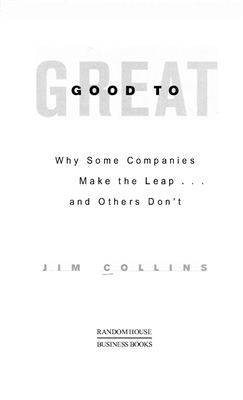 Collins J. Good to Great