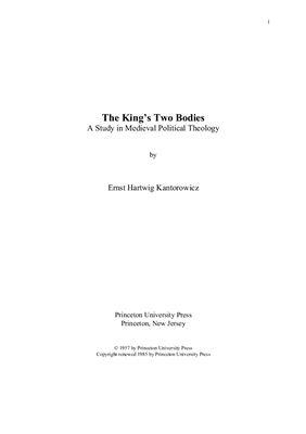 Канторович Э.Х. Два тела короля. Исследование по средневековой политической теологии
