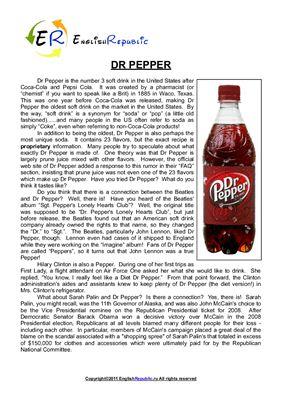 Знай все обо всем. Топик Dr Pepper