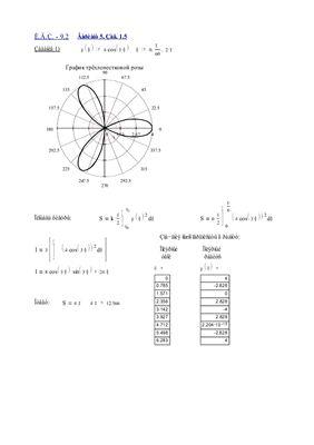 Индивидуальные задания по высшей математике. Глава 9. Определенный интеграл. Решены эадания ИДЗ-9.2, № 1.5; 2.5; 3.5; 4.5 в Word