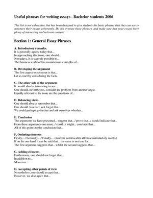 Шпаргалка - Useful phrases for writing essays