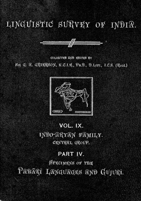 Grierson, George. Lingvistic survey of India, v.9 p.4