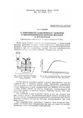 Гиндин Л.Г. О деятельности гальванических элементов и электрохимической коррозии металлов в диэлектриках