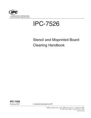 IPC-7526-2007 Stencil and Misprinted Board Cleaning Handbook