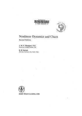 Thompson J.M.T., Stewart H.B. Nonlinear Dynamics and Chaos