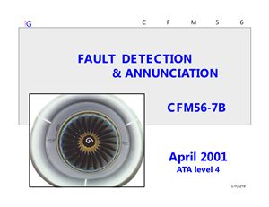 FADEC CFM56-7B Fault detection and annunciation Training manual
