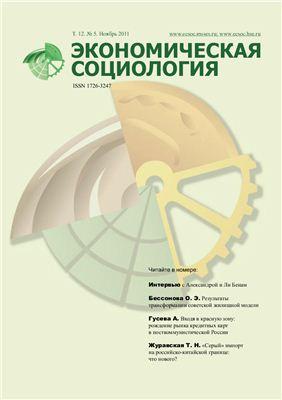 Экономическая социология 2011 №05